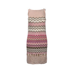 Pink Crochet Knit Dress with Cut-out detail