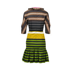 Prada striped ruffled dress 2