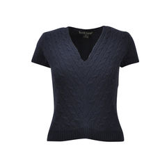 Cable Knit Cashmere Top