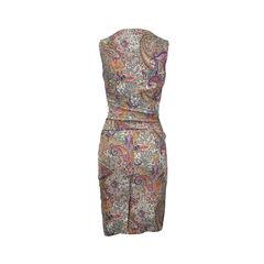 Etro gathered waist paisley dress 2