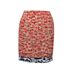 Double Layered Print Skirt