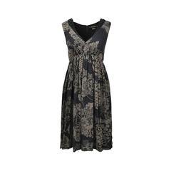 Beaded Printed Dress