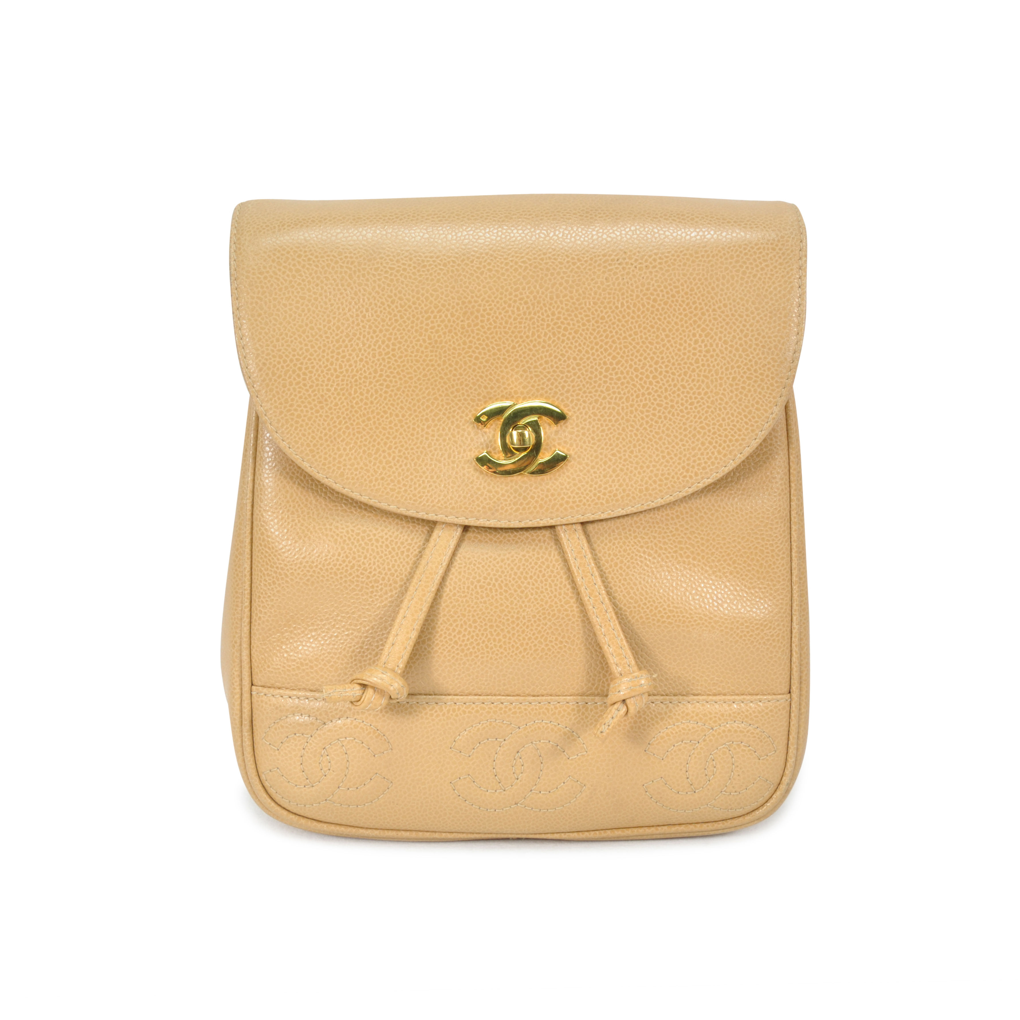 69ef627b8f8d Authentic Vintage Chanel Stitched 'CC' Caviar Backpack (TFC-107-00020)    THE FIFTH COLLECTION