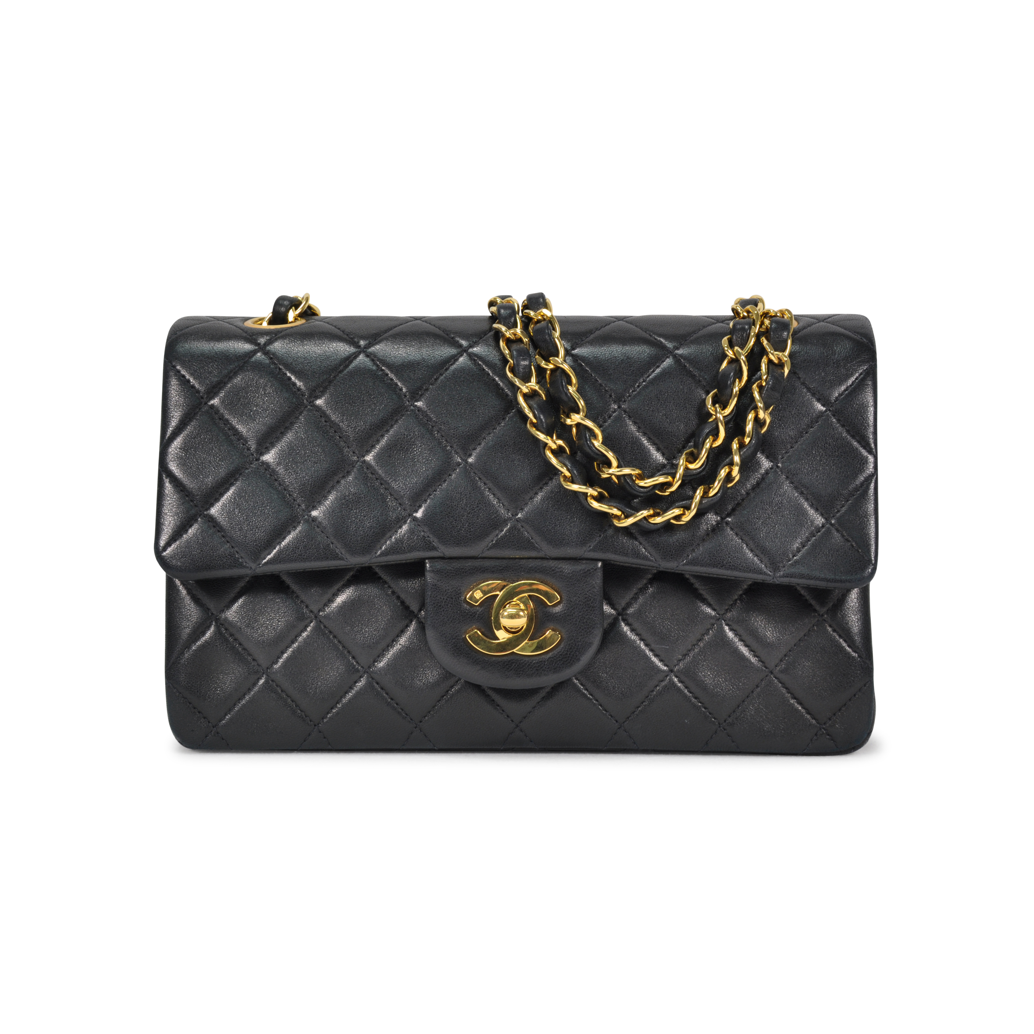 59db12bf2955 Authentic Vintage Chanel Small Classic Double Flap Bag (TFC-107-00022) |  THE FIFTH COLLECTION