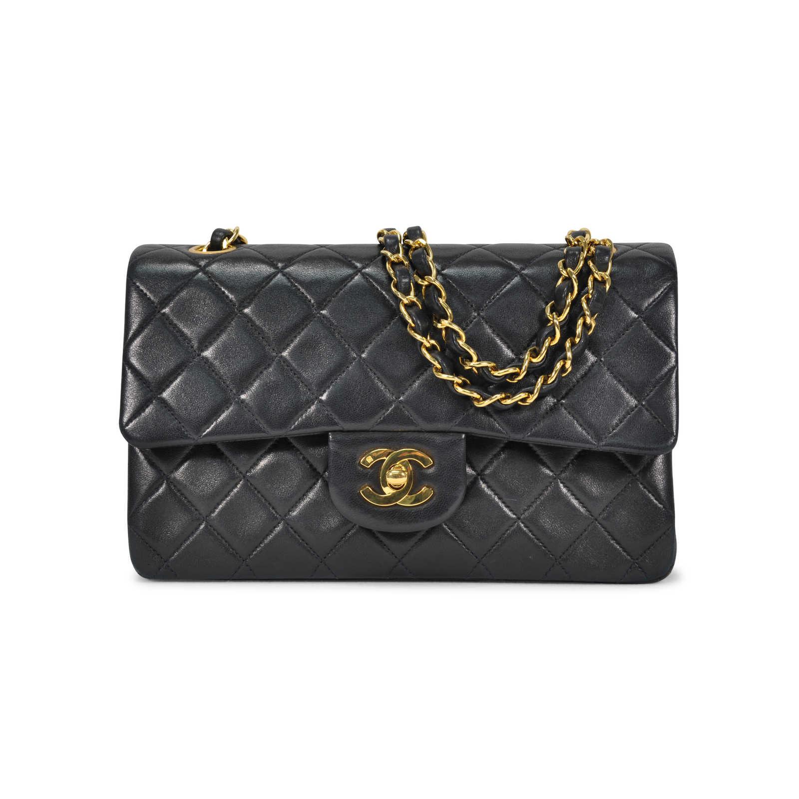 5d22516c Authentic Vintage Chanel Small Classic Double Flap Bag (TFC-107 ...
