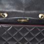 Authentic Vintage Chanel Lock Detail Single Flap Bag (TFC-107-00024) - Thumbnail 3