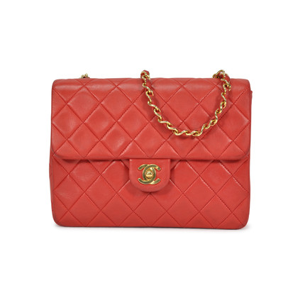 Authentic Vintage Chanel Mini Red Quilted Crossbody Bag (TFC-107-00027)
