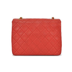 Chanel mini red quilted crossbody bag 2
