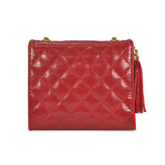 Chanel lizard quilt mini bag 2