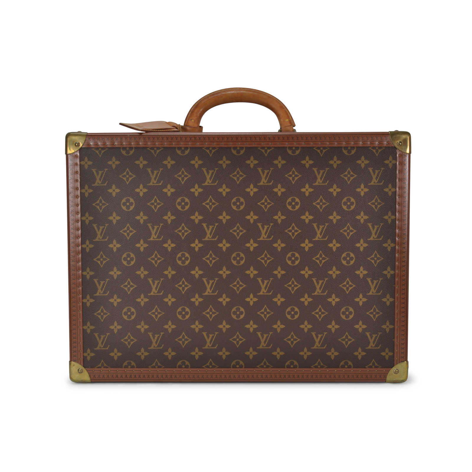 second hand louis vuitton monogram suitcase trunk the fifth collection. Black Bedroom Furniture Sets. Home Design Ideas