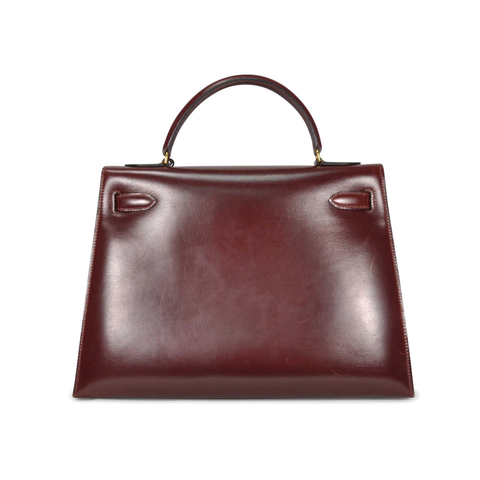 b877719487c3 ... Authentic Vintage Hermès Burgundy Box Kelly 32 (TFC-107-00036) -  Thumbnail ...