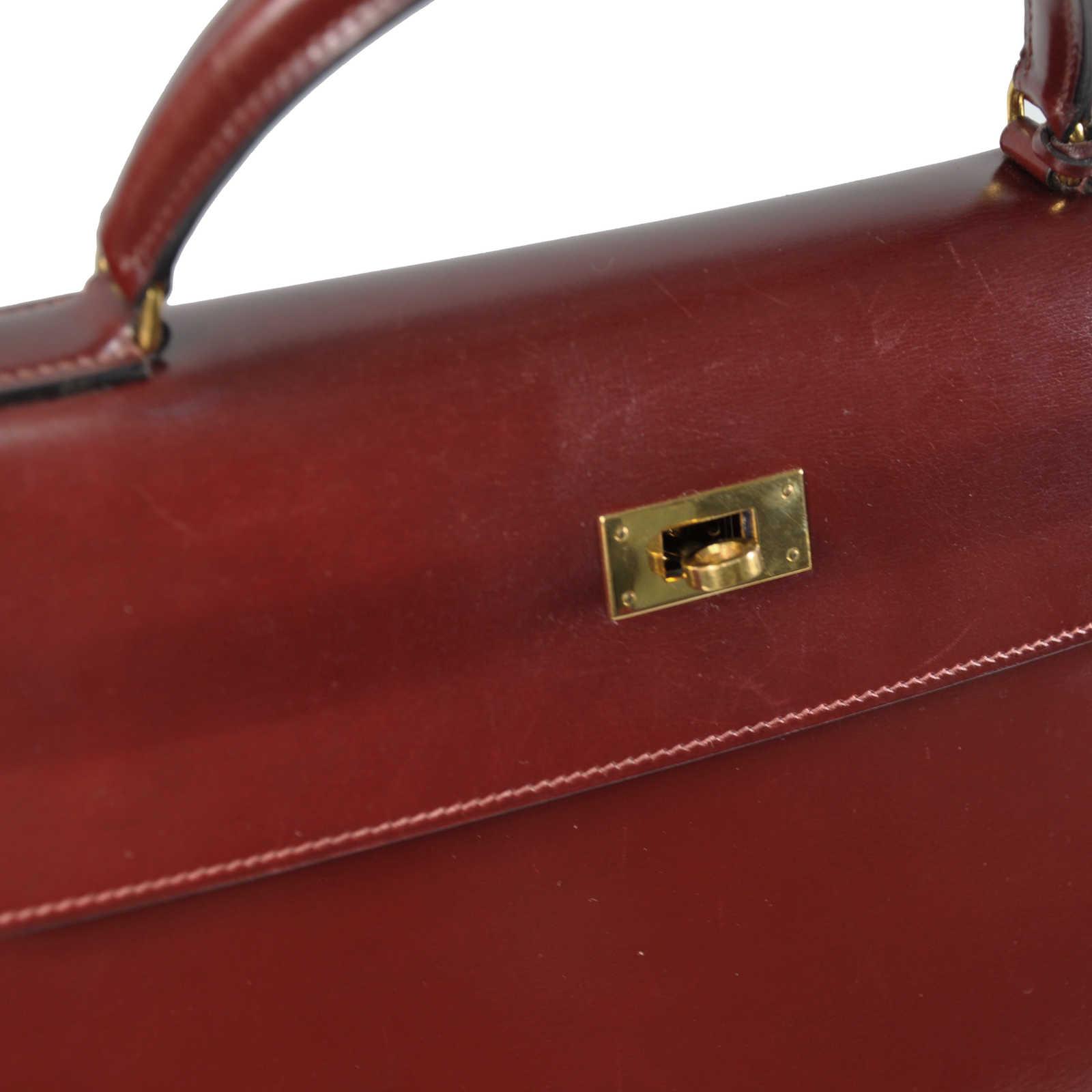 fcff187e2372 ... Authentic Vintage Hermès Burgundy Box Kelly 32 (TFC-107-00036) -  Thumbnail ...