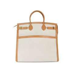 Toile and Vache Natural Weekend bag