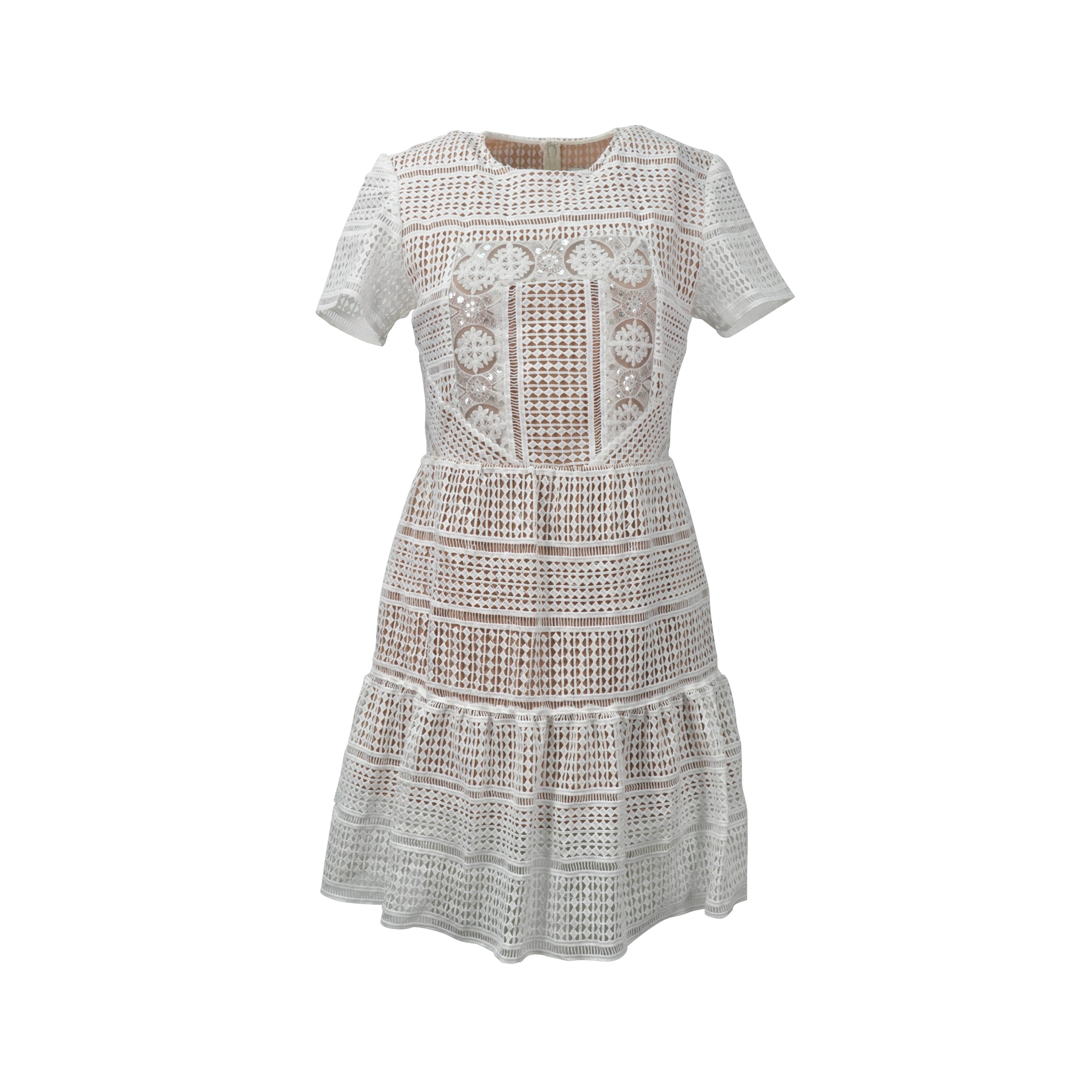 fe5777b7cc48b Authentic Second Hand Self-Portrait Patchwork Lace Dress (PSS-096-00014) |  THE FIFTH COLLECTION