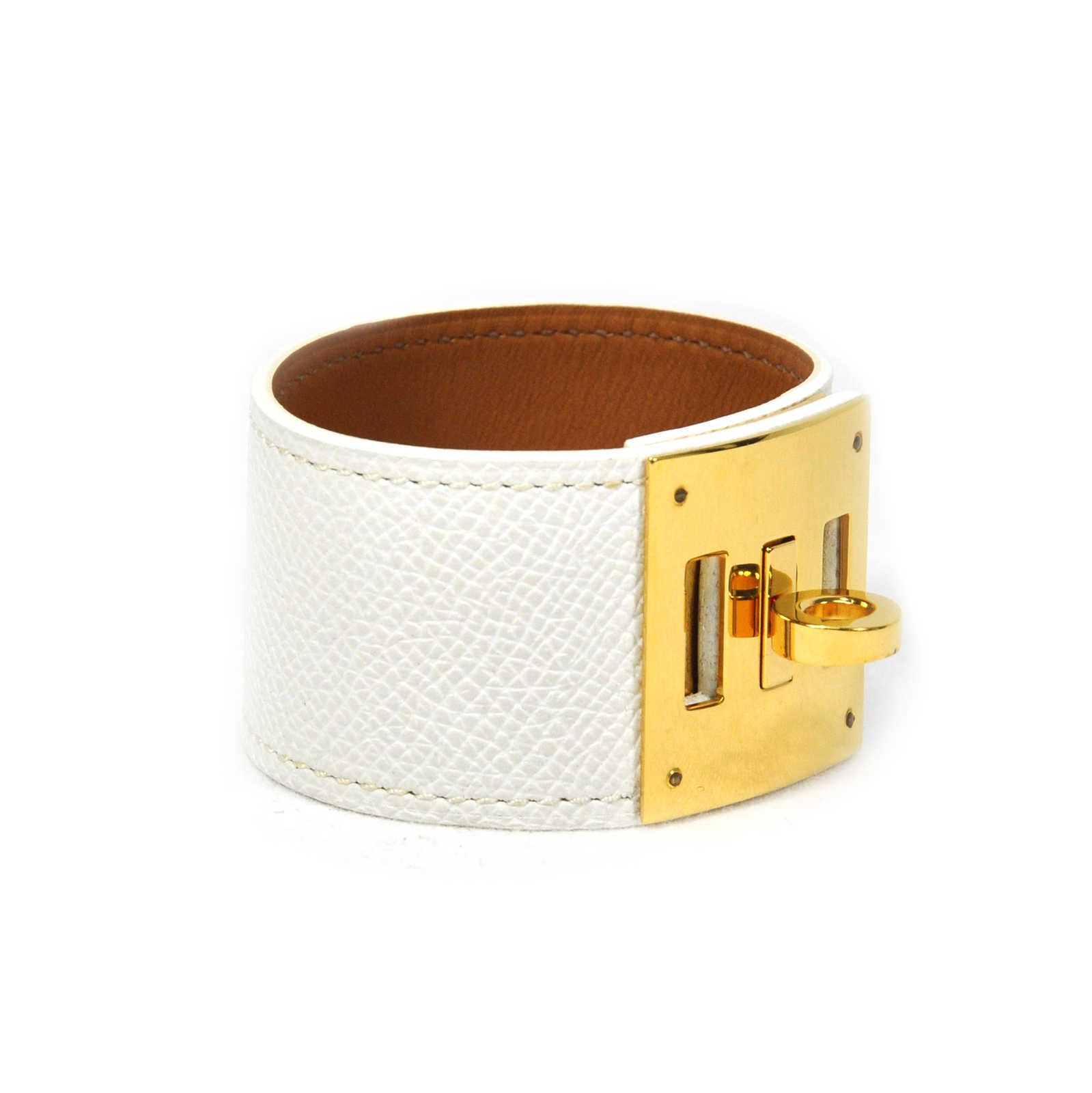 second hand hermes kelly dog bracelet white the fifth collection. Black Bedroom Furniture Sets. Home Design Ideas