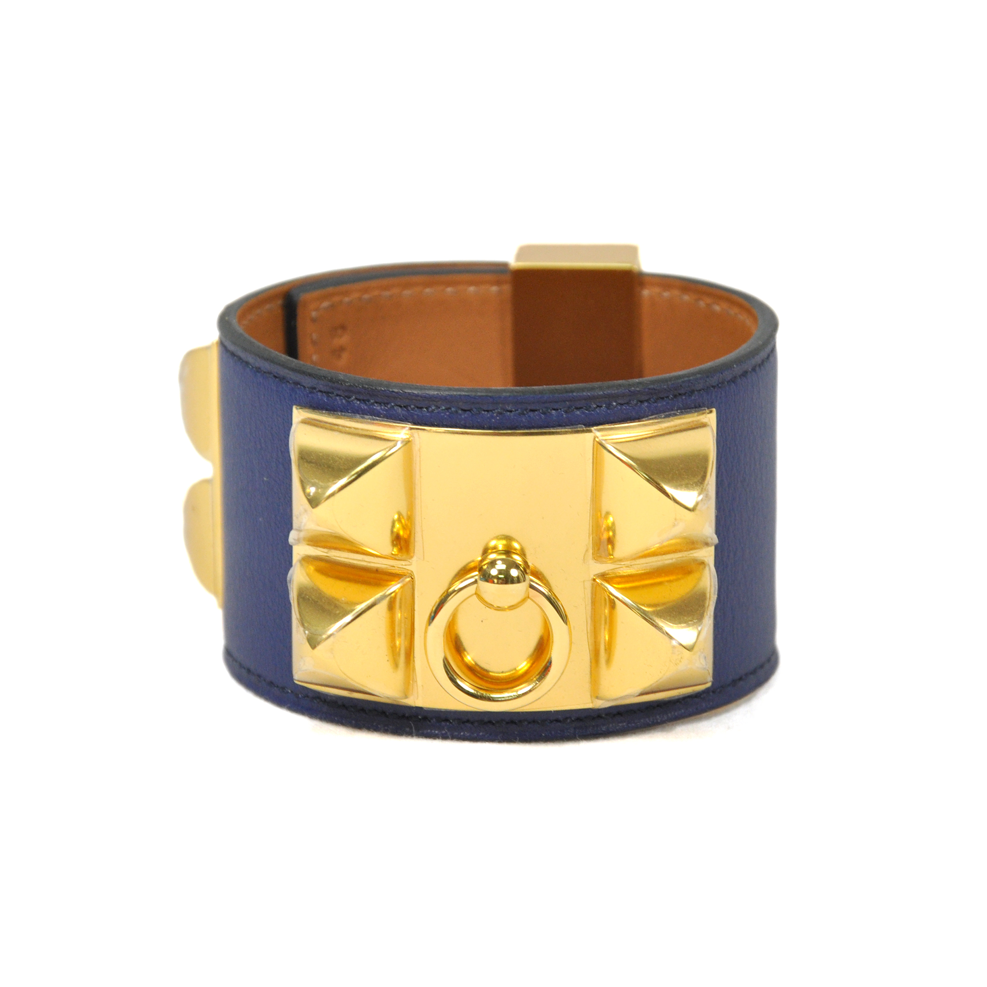 second hand hermes collier de chien bracelet blue the fifth collection. Black Bedroom Furniture Sets. Home Design Ideas