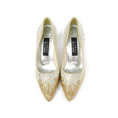 Crystal Embellished Pointed Pumps