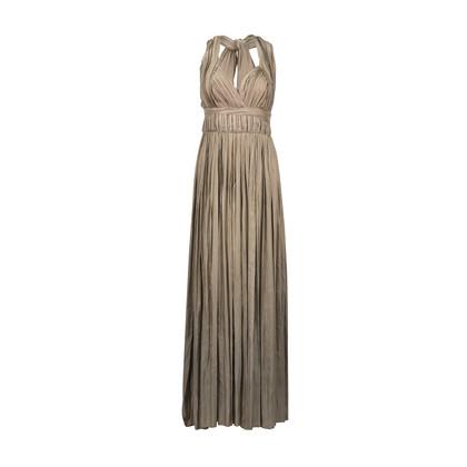 Authentic Second Hand Bottega Veneta Halter Pleated Gown (PSS-246-00089)