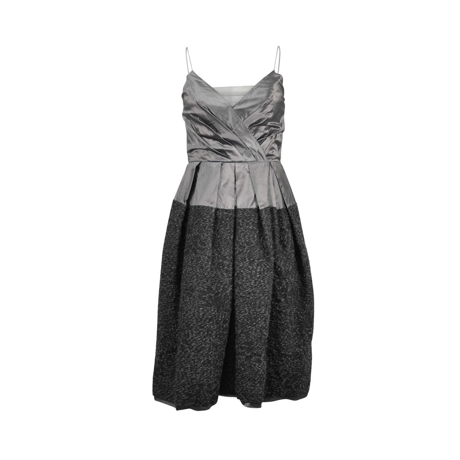 efb01e9eb0a Authentic Second Hand Donna Karan Grey Cocktail Dress (PSS-246-00155) ...