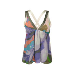 Printed Baby Doll Top