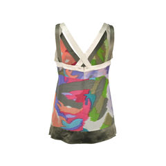 Etro abstract print baby doll top 2