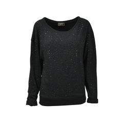 Oversized Sweater with Rhinestones