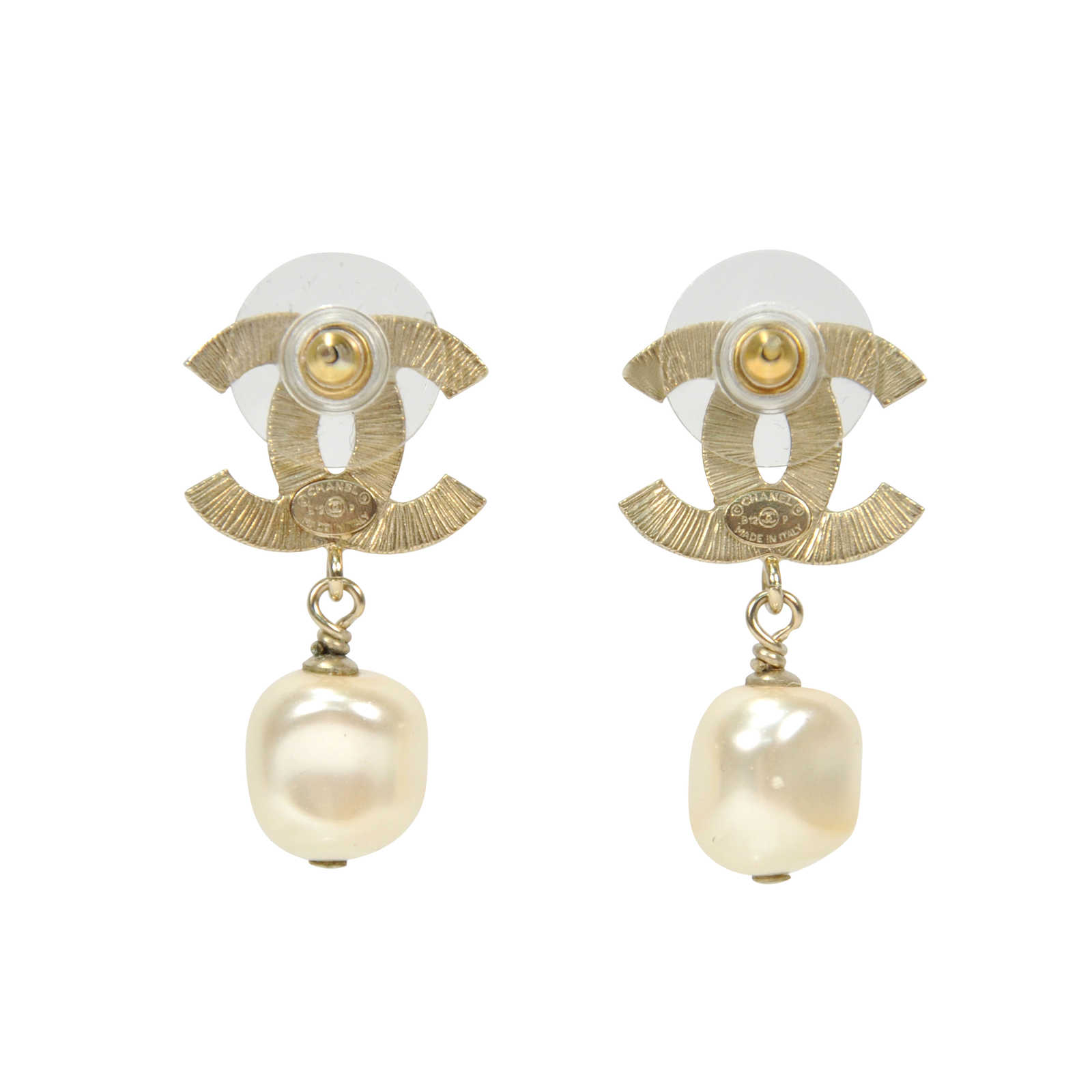 Authentic Pre Owned Chanel Cc Pearl Drop Earrings Pss 304 00012