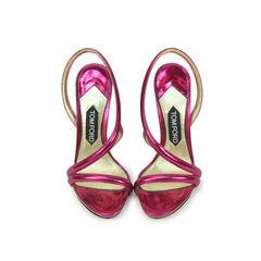 Raspberry Metallic Sandals