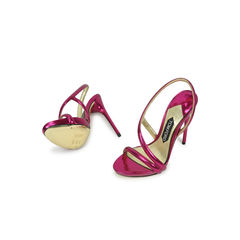 Tom ford raspberry metallic sandals 2