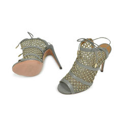 Aquazzura blondie honeycomb grey pumps 2