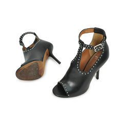 Givenchy black leather pisca studded heels 2