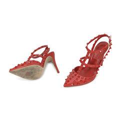 Valentino rockstud slingback heels 2