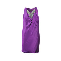 Embellished Purple Dress