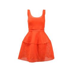 Maje Orange Crepe Dress