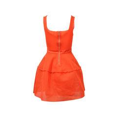 Maje maje orange crepe dress 2