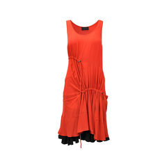 Drawstring Contrast Dress