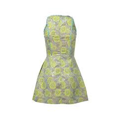 Multicolor Floral Flared Dress