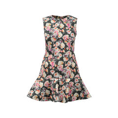 Flower Printed Sleeveless Dress