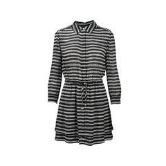 Stripe Gathered Dress