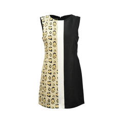 Leopard Print Three Tone Sleeveless Dress
