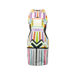Racer Back Printed Dress