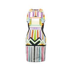 Racer Back Printed Dress