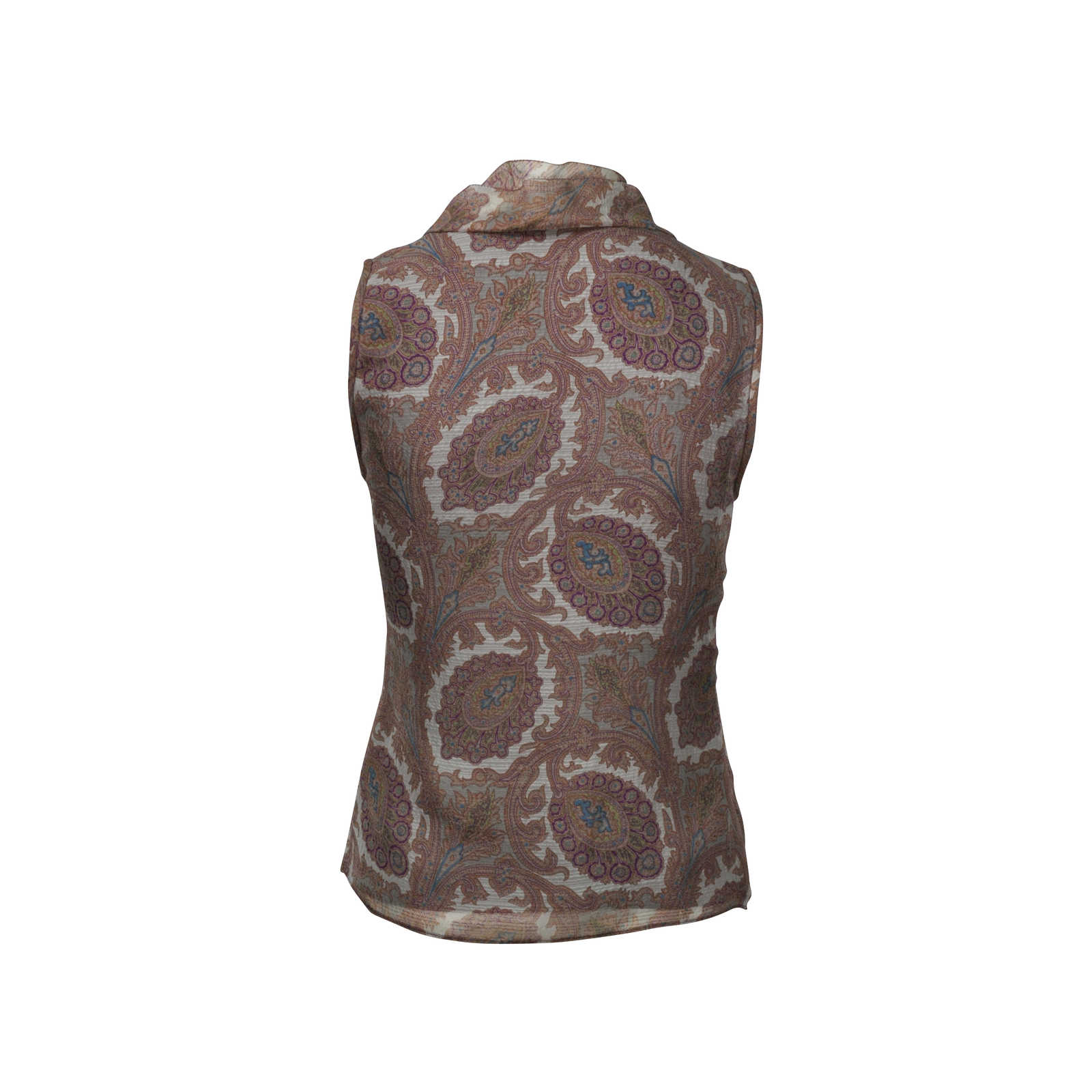 968ee466a5 Authentic Second Hand Etro Printed V-neck Top (PSS-246-00243) - THE ...