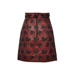 Black iris brocade skirt 2