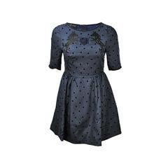 Polka Dot Embroidered Horse Dress