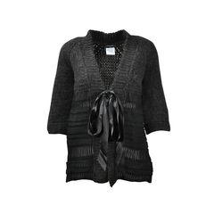 Alpaca Knit Contrast Jacket