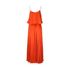 Halston heritage orange pleated maxi dress 2