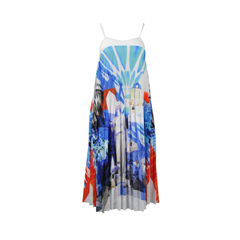 Multi Colored Greek Dream Pleated Sundress