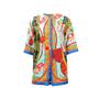 Dolce And Gabbana Fan Print Motif Overcoat - Thumbnail 0