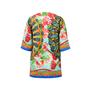 Dolce And Gabbana Fan Print Motif Overcoat - Thumbnail 1